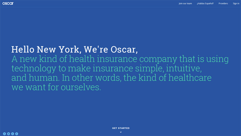 Oscar in 33 New Websites with Clean and Minimalist Design