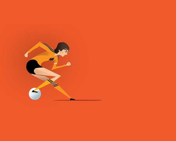 Fluid football by Dave Flanagan in World Cup 2014: Showcase of Creative Posters and Illustrations