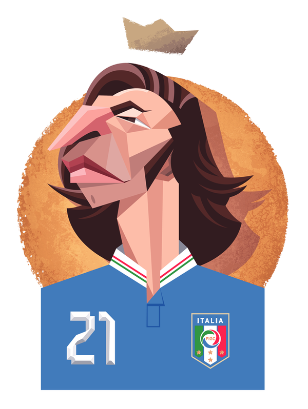 Modern Legends by Daniel Nyari in World Cup 2014: Showcase of Creative Posters and Illustrations