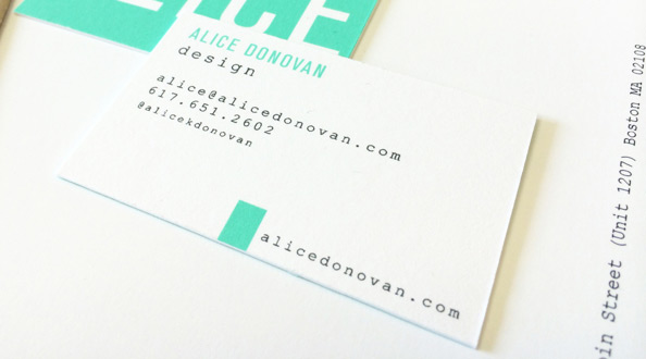 Personal Branding by Alice Donovan in 35+ Creative Business Cards