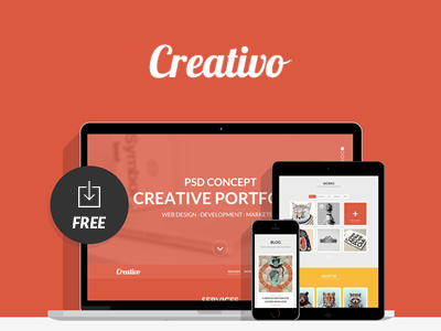 Creativo in 35 Free and Flat PSD Web Templates
