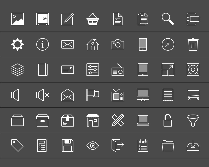 Sketch icons by Christian in 40 Free Icon Sets For June 2014