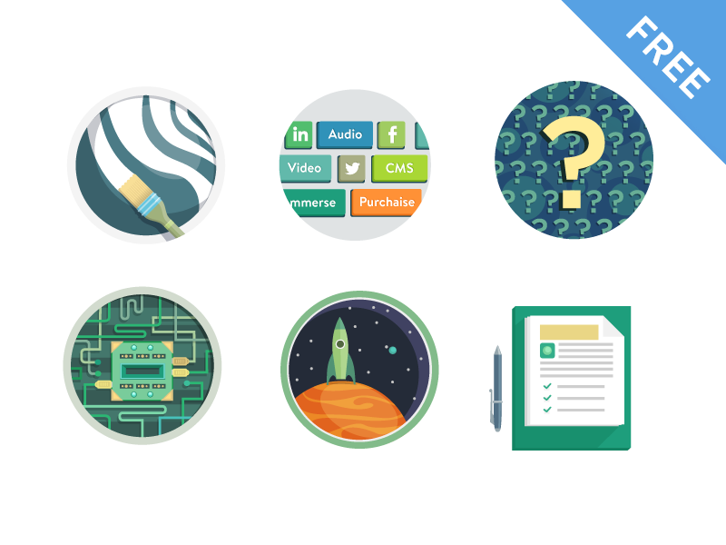 Freebies by bamboo apps in 26 Free and Flat Icon Sets