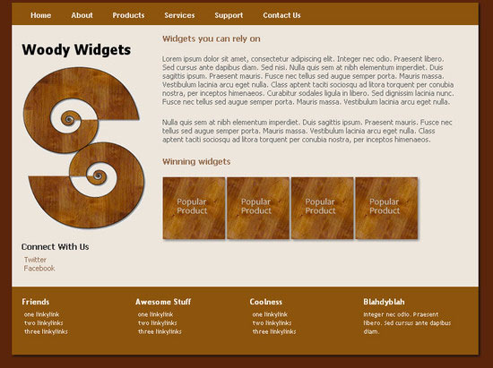 WoodyWidgets HTML5 and CSS3 Template