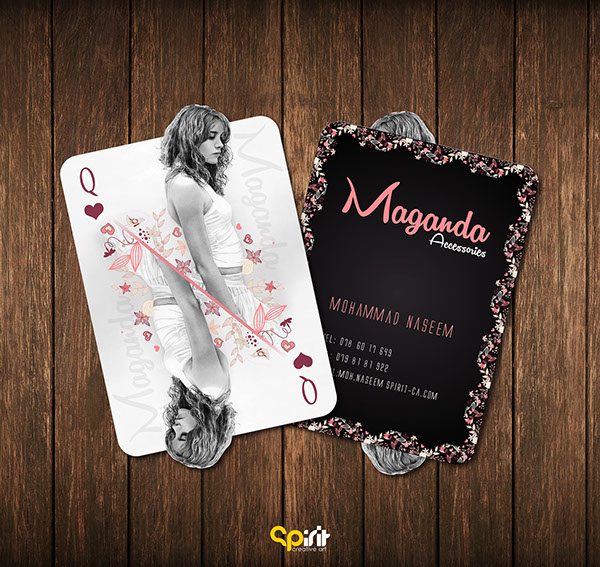 Maganda Card by Mohammad Naseem in 35+ Creative Business Cards