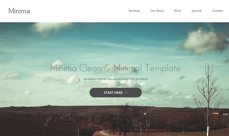 Minima in 35 Free and Flat PSD Web Templates