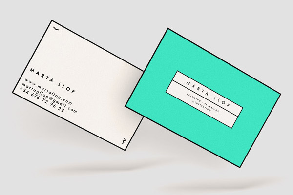 Self Identity by Marta Llop in 35+ Creative Business Cards