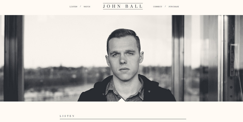 John Ball in 33 New Websites with Clean and Minimalist Design