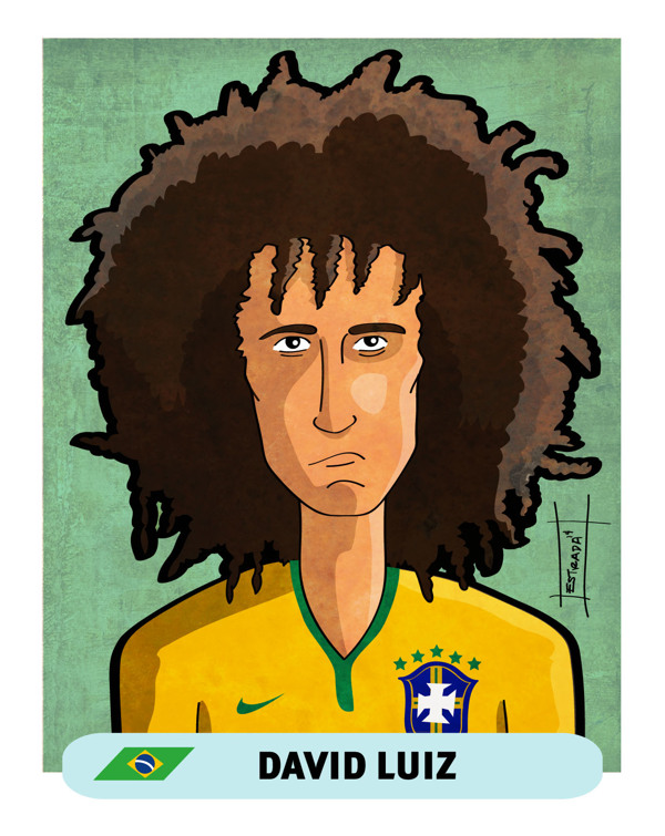Brazil 2014 World Cup Stars by Mike Estrada in World Cup 2014: Showcase of Creative Posters and Illustrations