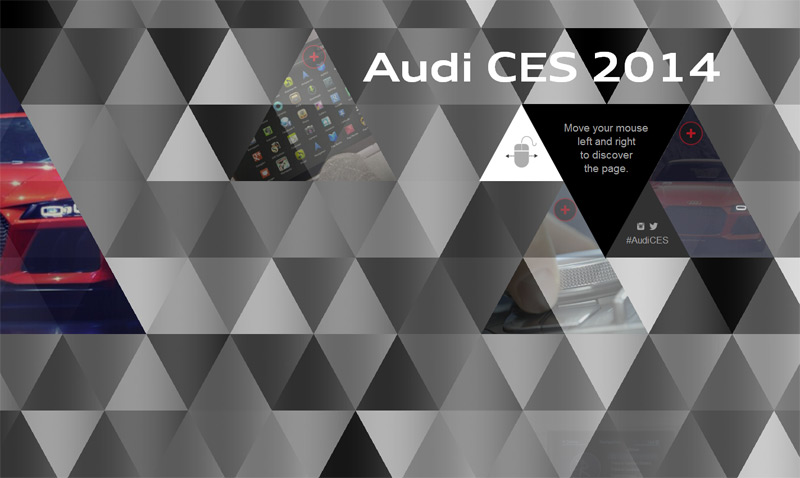 Audi CES 2014 in Web Design Inspiration: Swiss Style