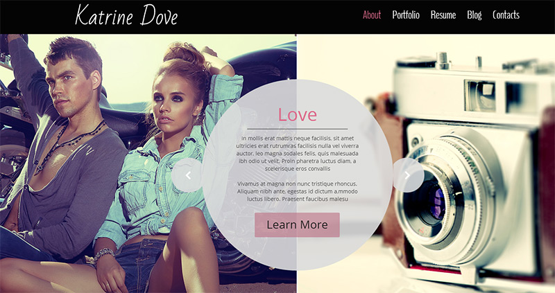 HTML5 Photo Template in 35 Free and Flat PSD Web Templates