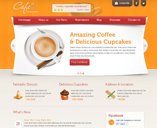 Html5 Template : Cafe