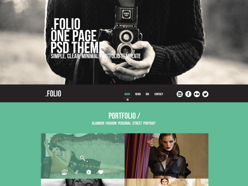 .Folio in 35 Free and Flat PSD Web Templates
