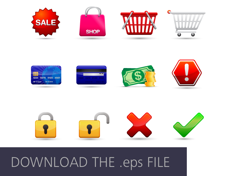 Free Ecommerce Icons by Craig Whyte in 40 Free Icon Sets For June 2014