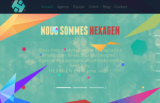Polygonal Style Website Designs