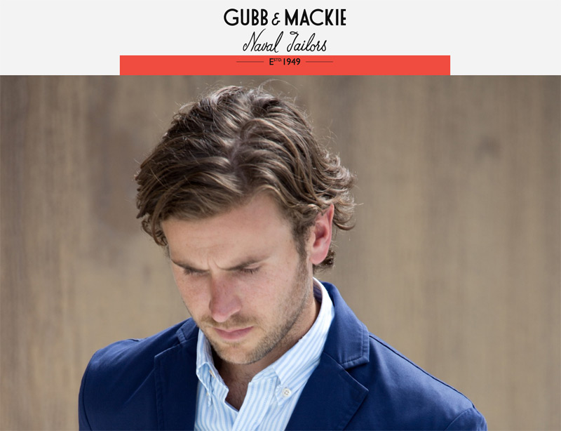 Gubb and Mackie in 33 New Websites with Clean and Minimalist Design