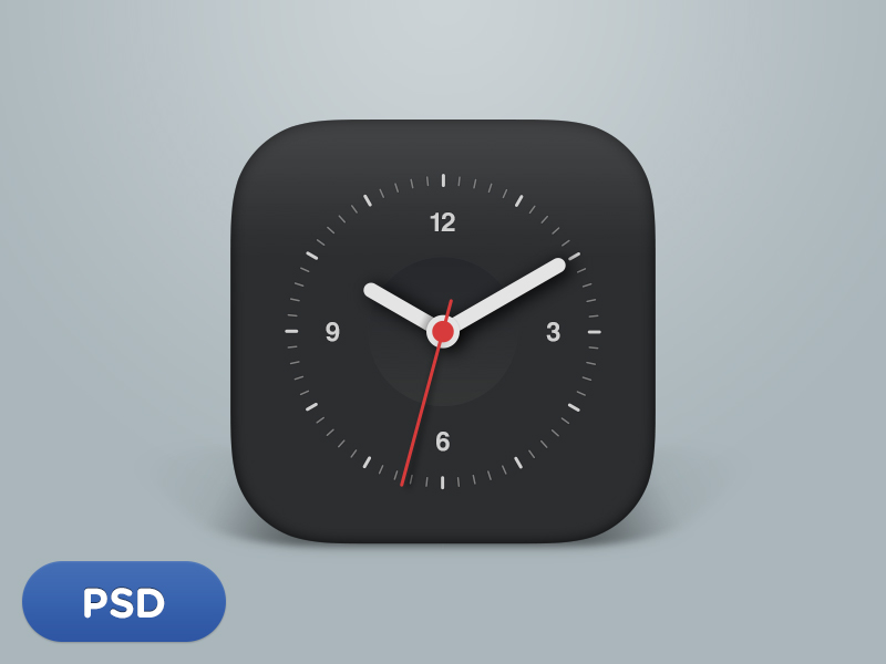Clock Icon by Sang Ho Jeon in 40 Free Icon Sets For June 2014