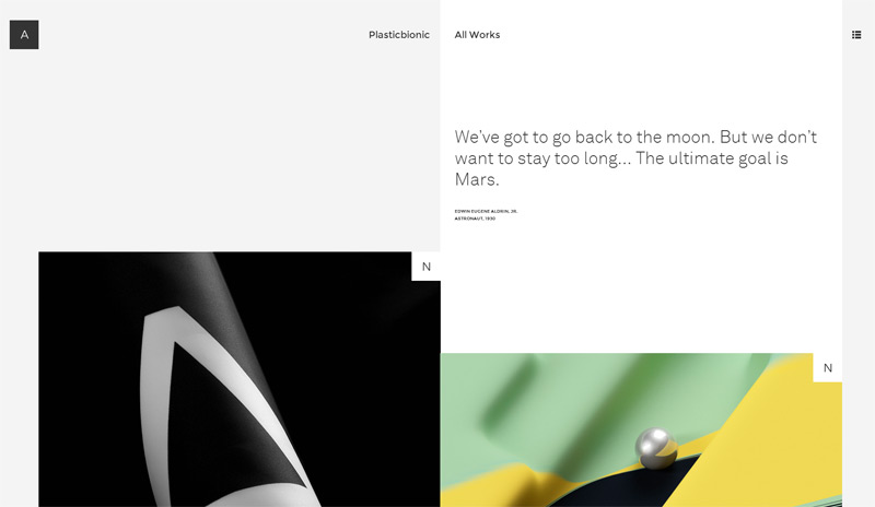 Plastic Bionic in 33 New Websites with Clean and Minimalist Design