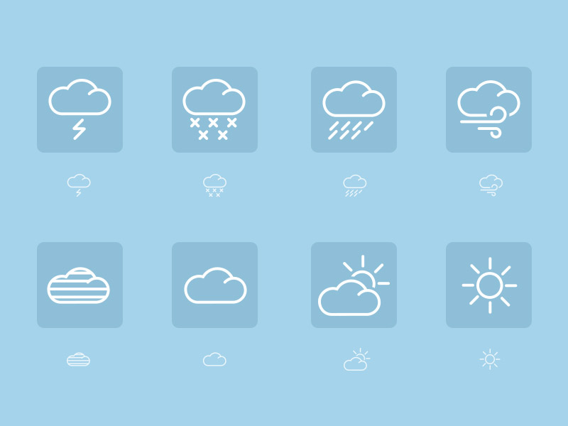 Weather Icon Set by Matt Jackson in 40 Free Icon Sets For June 2014