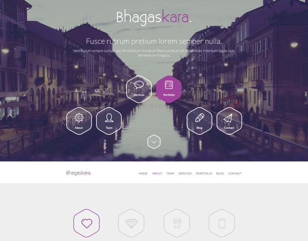 Bhagaskara in 35 Free and Flat PSD Web Templates