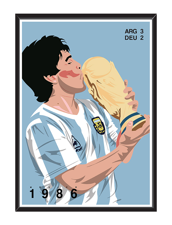 World Cup: The Finals by Cal Gildart in World Cup 2014: Showcase of Creative Posters and Illustrations