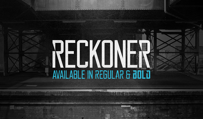 Reckoner Typeface by Alex Dale in 27 Fresh and Free Fonts for June 2014