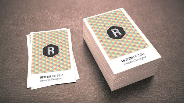 Personal identity by Rithin Peter in 35+ Creative Business Cards