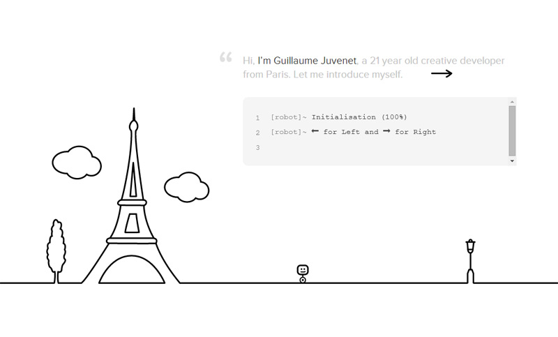 Guillaume Juvenet in 33 New Websites with Clean and Minimalist Design