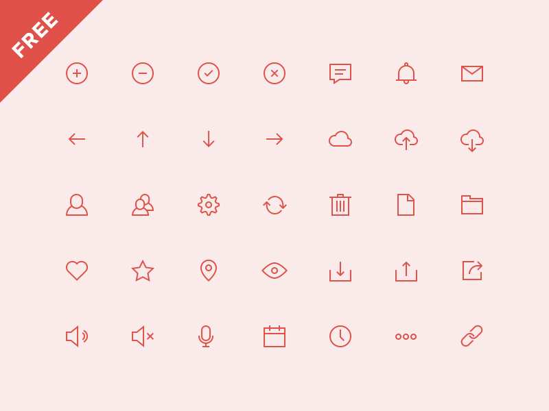 UI Mockup Icons by Online Department in 40 Free Icon Sets For June 2014