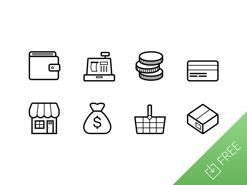 Vector Ecommerce Icons by Medialoot in 26 Free and Flat Icon Sets
