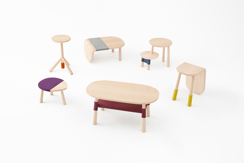 Pooh-tables by nendo in Creative Furniture Collection for June 2014