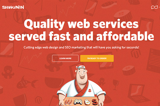 Creative Single Page Website Design