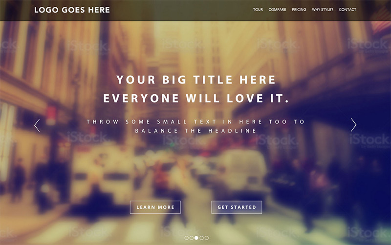 Landing Page in 35 Free and Flat PSD Web Templates