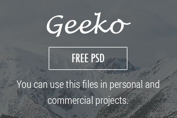 Geeko in 35 Free and Flat PSD Web Templates