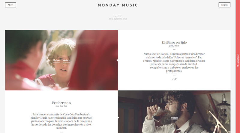 Monday Music in Web Design Inspiration: Swiss Style