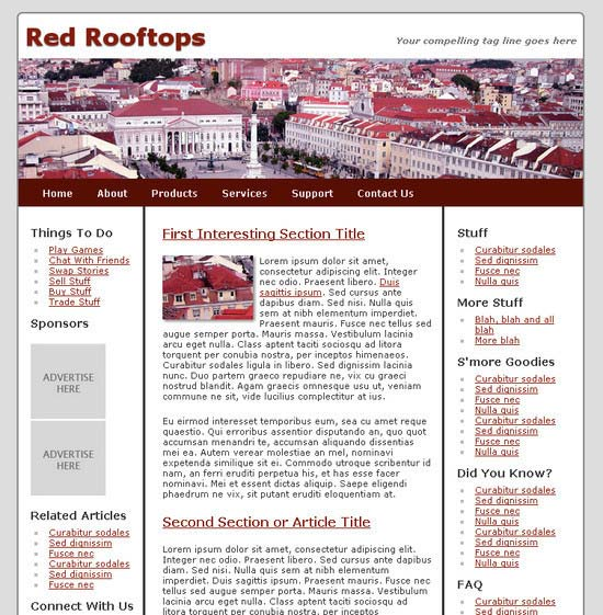 RedRooftops HTML5 and CSS3 Template