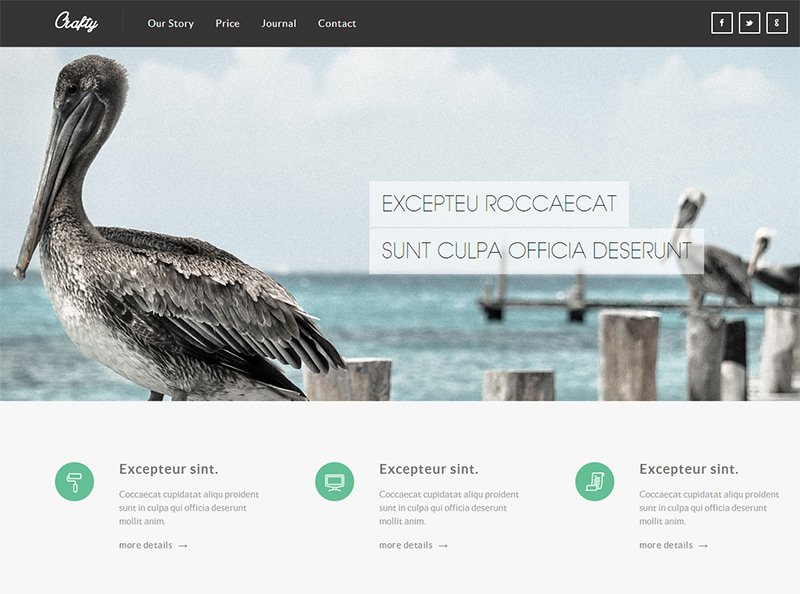 Crafty in 35 Free and Flat PSD Web Templates