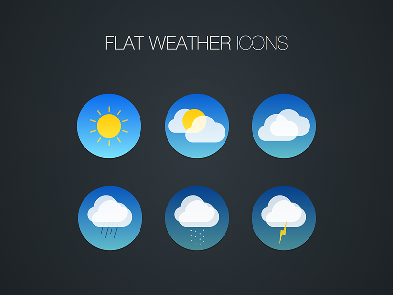 Weather Icon Freebie for Sketch by Joseph Angelo Todaro in 40 Free Icon Sets For June 2014