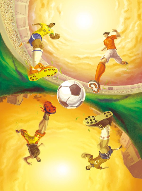 Soccer Illustrations by Yuji Schmidt in World Cup 2014: Showcase of Creative Posters and Illustrations
