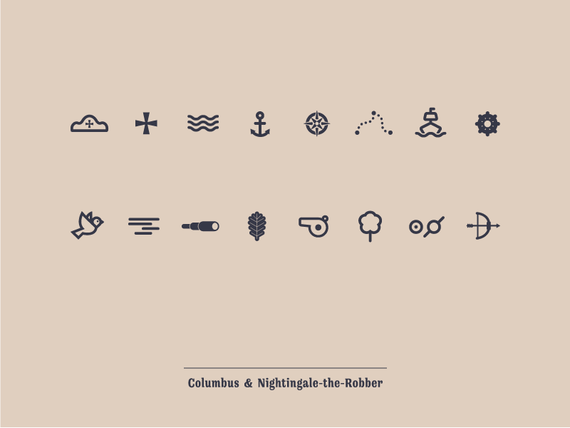 Columbus and Nightingale-The-Robber Icons by Alexey Yukhalov in 40 Free Icon Sets For June 2014