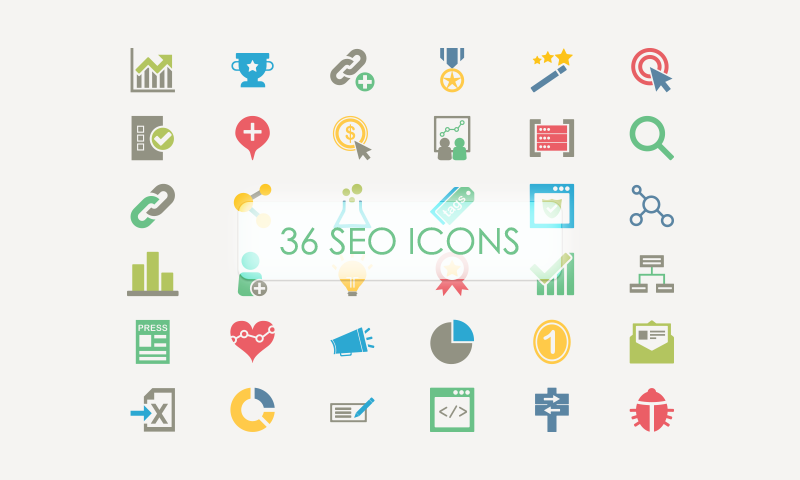 36 SEO Vector Icons by Chris B in 40 Free Icon Sets For June 2014