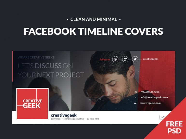 Facebook Timeline Covers in 35 Free and Flat PSD Web Templates