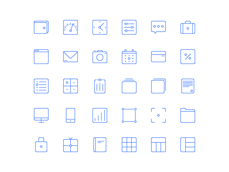 Sunday Icons by Abhimanyu Rana in 38 Fresh and Modern Icon Sets