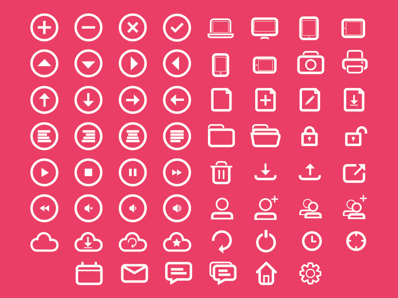 Rounded Icon Set by Jerry Low in 38 Fresh and Modern Icon Sets