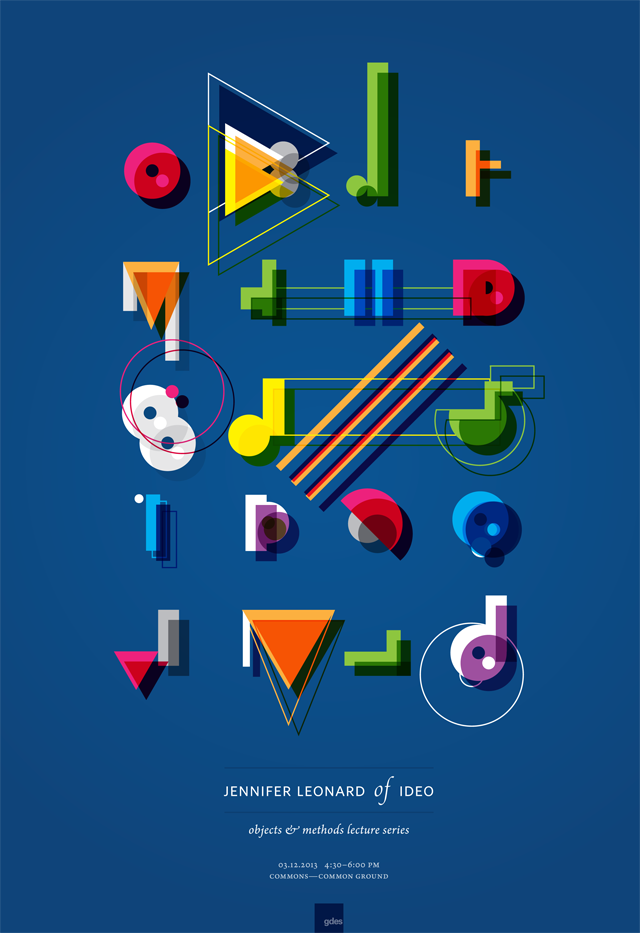 Objects + Methods, Jennifer Leonard by Lucia Weilein in 60+ Examples of Creative Typography