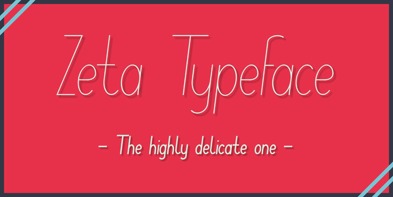 Zeta Free Typeface by Christopher Gram in 25 Fresh and Free Fonts for July 2014