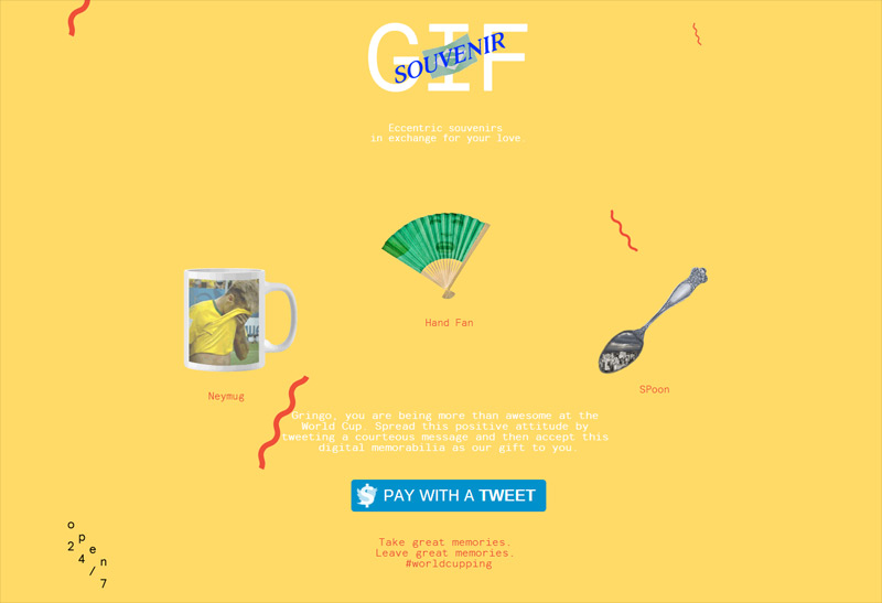 GIF Souvenir in Web Design Inspirational Cocktail #92