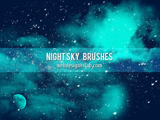 night sky photoshop brush 550x412 Awesome New Photoshop Brushes for Photo Manipulation   Vol.1