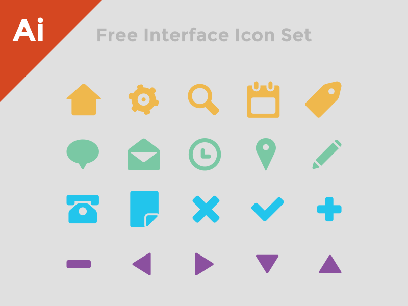 Free Interface Icon Set by Matthew Dimmett in 38 Fresh and Modern Icon Sets