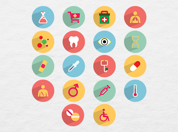 36 Free Medical and Health Icons by Ferman Aziz in 38 Fresh and Modern Icon Sets